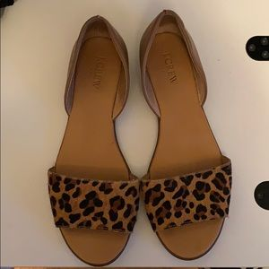 J crew animal print shoes